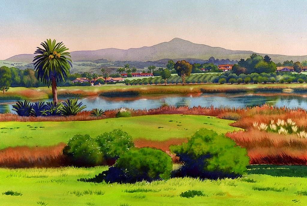 Cuadros modernos pinturas y dibujos el paisaje como - Color y pintura ...
