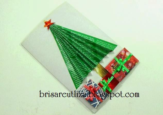 Ecobrisa diy tarjeta navide a reciclada - Manualidades tarjeta navidena ...