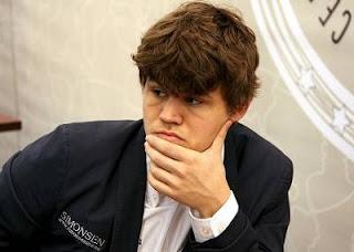 Echecs à Moscou : Ronde 9, le Norvégien Magnus Carlsen (2835) - Photo © ChessBase