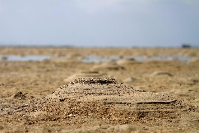 balansere med sand