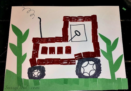 Diy make a tractor out of twizzler bites cheap kid 39 s for Tractor art projects