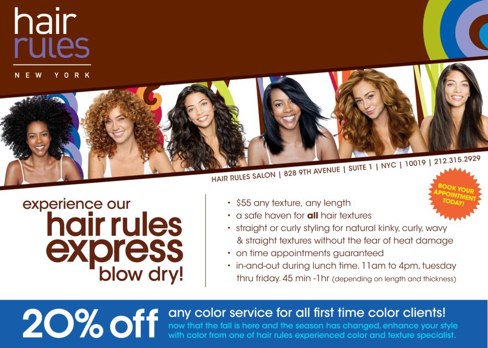 Hair Rules: EXPRESS BLOW DRY!