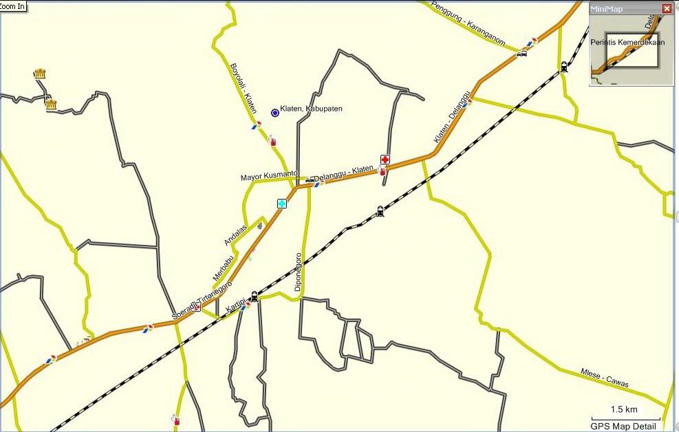 Peta Kota: Peta Kota Klaten