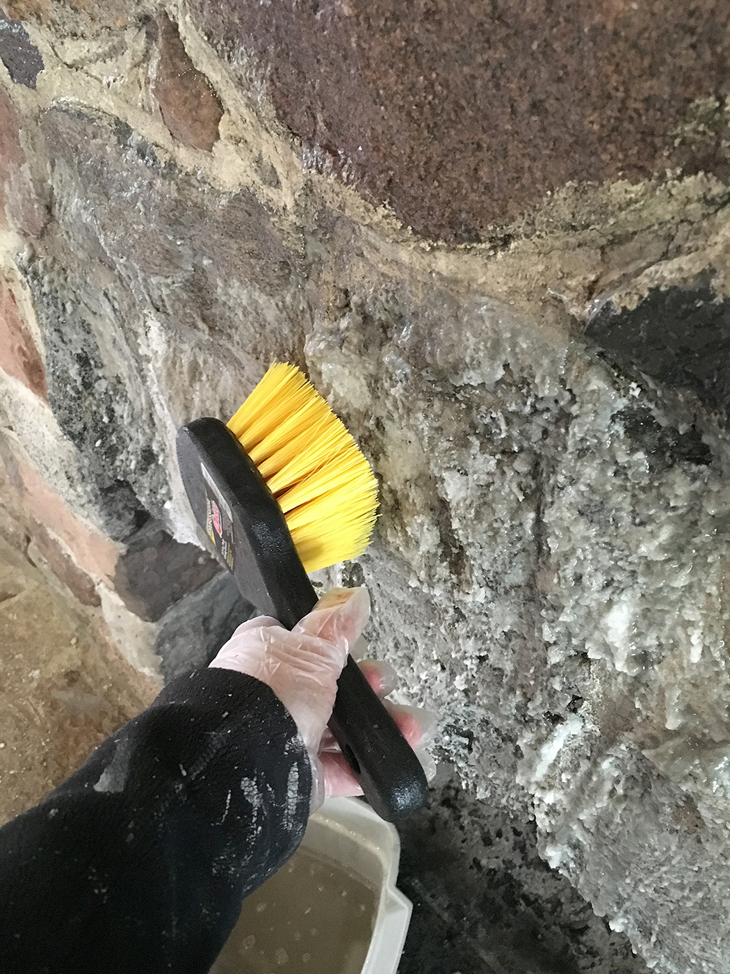 the impatient gardener how to clean a fireplace surround