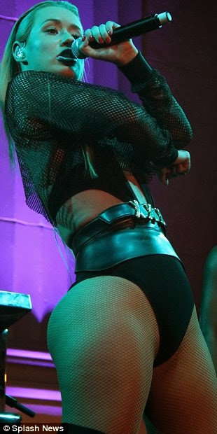 BOOTAY ROCKING: IGGY AZALEA ROCK LEOTARD, BOOTYLICIOUS CURVES & THIGH-HIGH BOOTS ON STAGE - DivaSnap.com