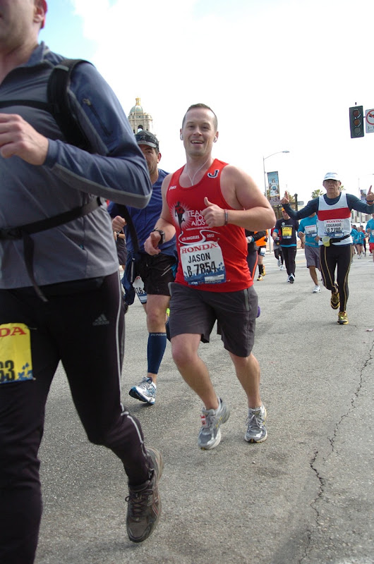 Jason runs LA Marathon 2012