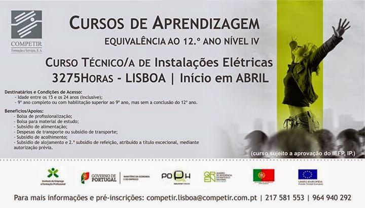 curso de instalações eletricas em Lisboa