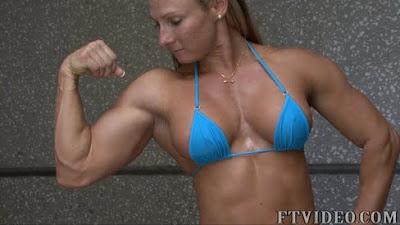 Milinda Richardson Female Muscle Bodybuilder Bicep