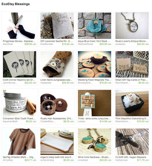 curated earth friendly items for sale on Etsy from team EcoEtsy