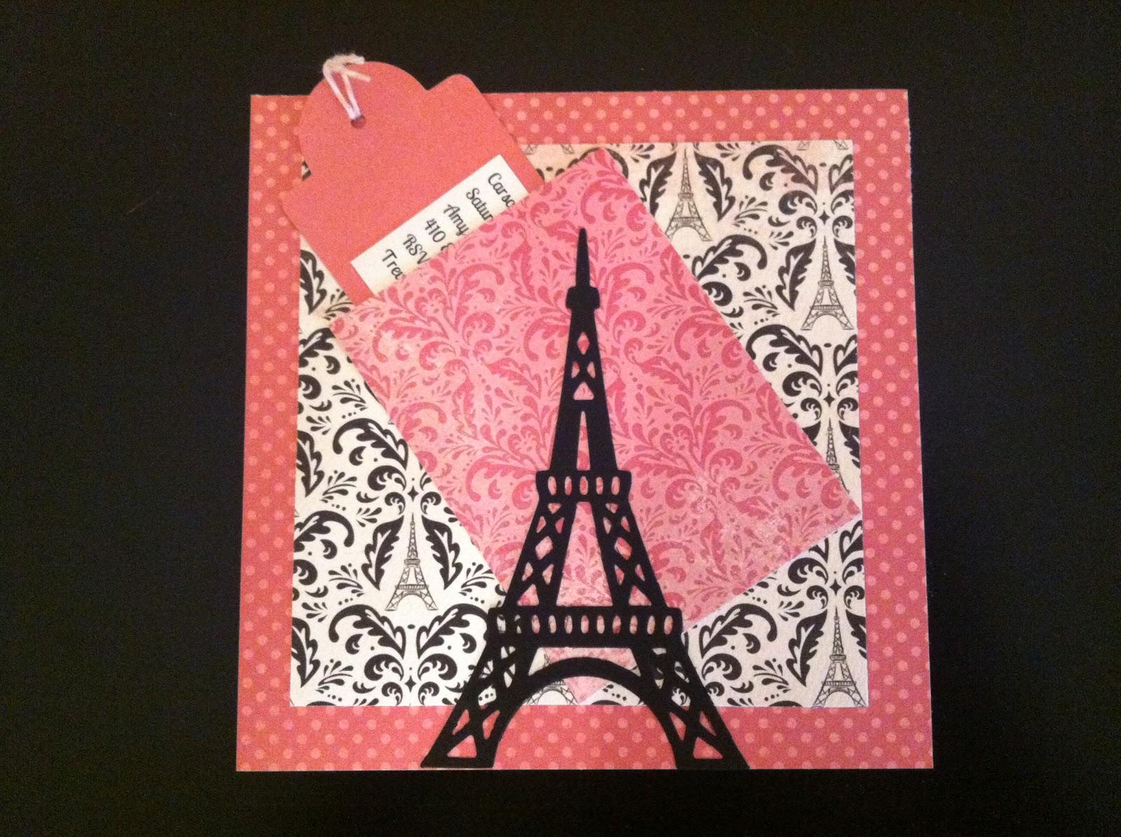 Sweet Brownie Queen: Pink Paris Birthday Invitations