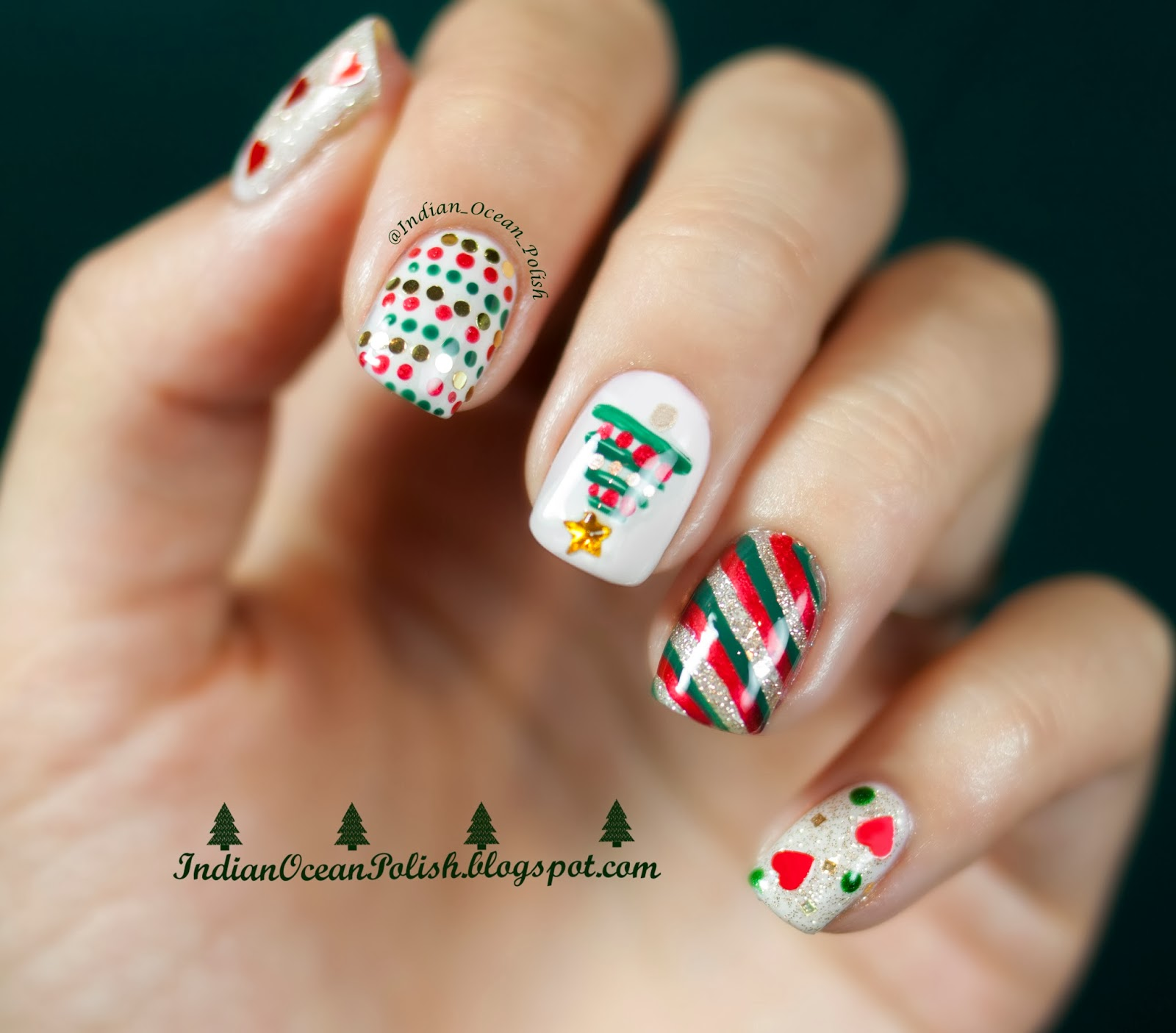 Nail art designs besides red nail art designs on top nail art images - Christmas 2013 Nail Art Ideas Simple And Not So Simple