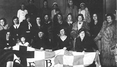 Componentes de la Sección Femenina del Club Ajedrez Barcelona en 1933