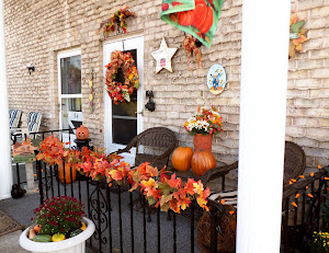 Autumn Front Porch with a Bit of Halloween 2012!!