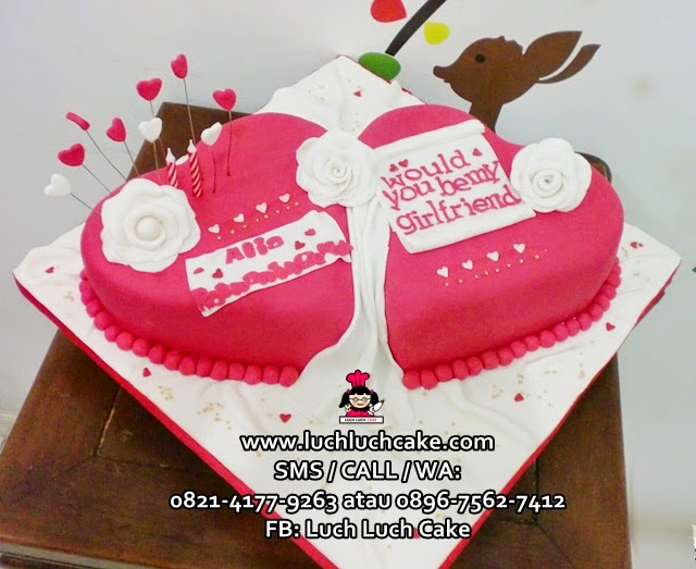Kue Tart Love Hati Romantis Daerah Surabaya - Sidoarjo