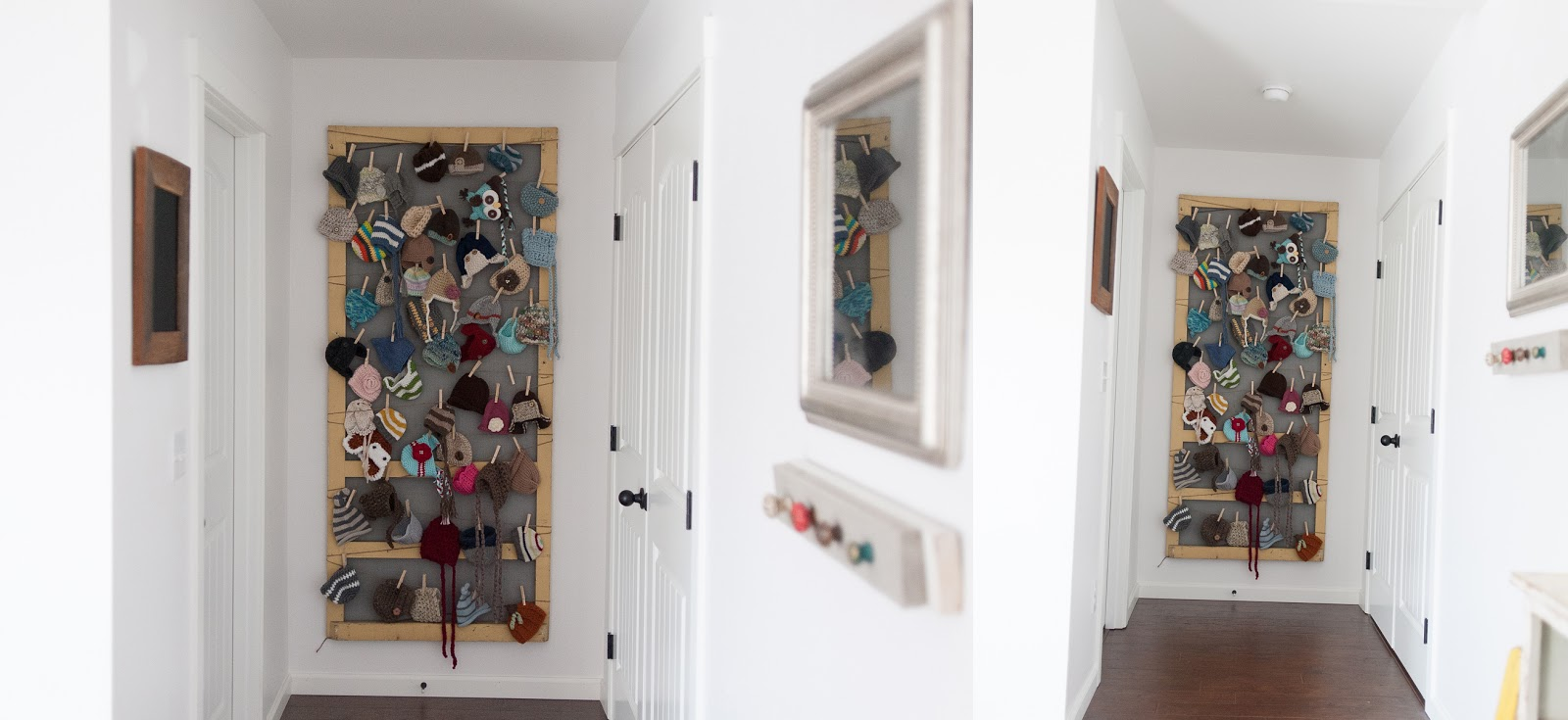 A screen door showcase newborn props for babies