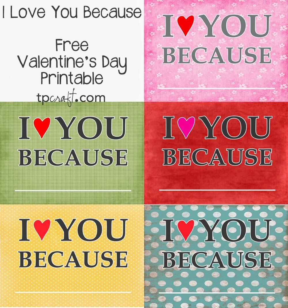 TPcraft.com: I Love You Because... {write on frames}