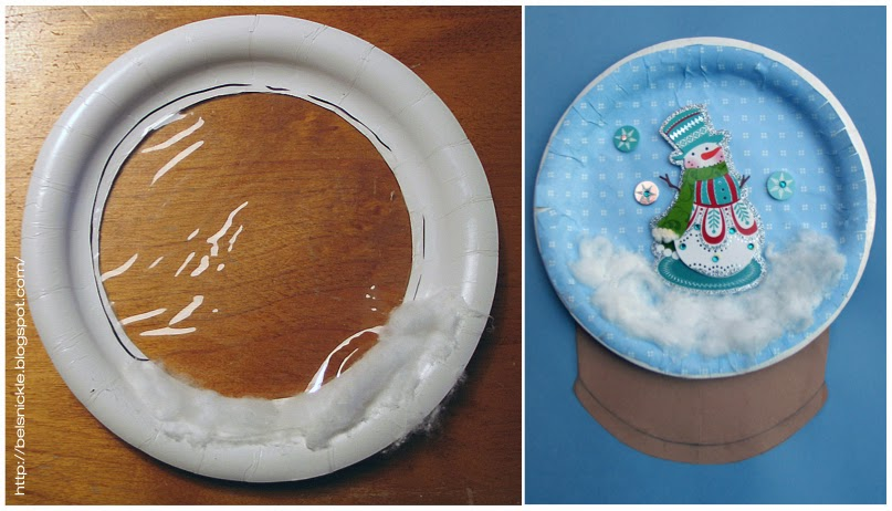 Left is an ex&le of the top paper plate before gluing it inverted side down on top of the mounted paper plate containing the Christmas scene. & Craft a Christmas Paper Plate Snow Globe | Belznickle Blogspot ...