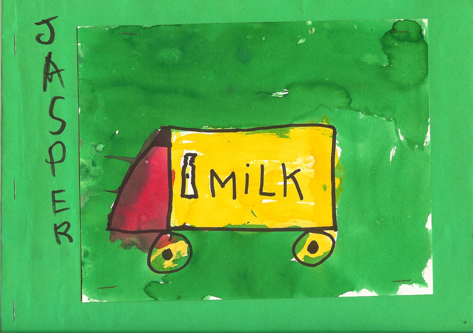 Milk Truck Artwork