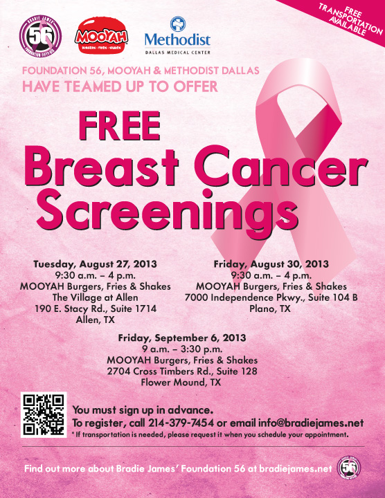 Free breast caner screening