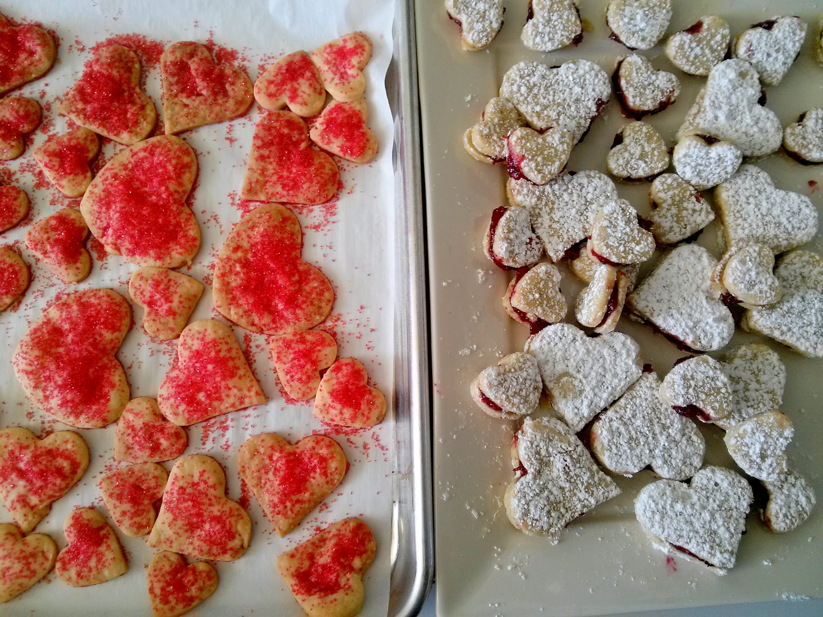 The Farmers Daughter Linzer Heart Cookies