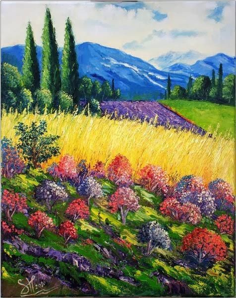 Vineyard Paintings of California by Wine Country Artist
