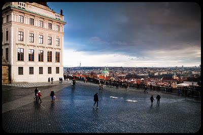 Pocztówka z Pragi. Hradczany zimą. fot. Łukasz Cyrus, Ruda Śląska
