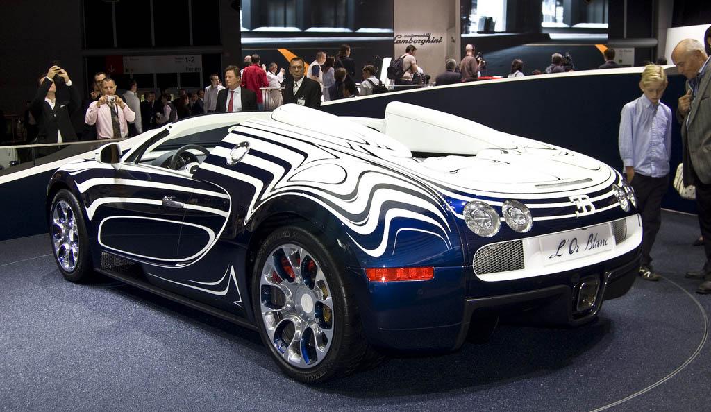kereta bugatti veyron grand sport l 39 or blanc yang super tiba2jam6petang. Black Bedroom Furniture Sets. Home Design Ideas