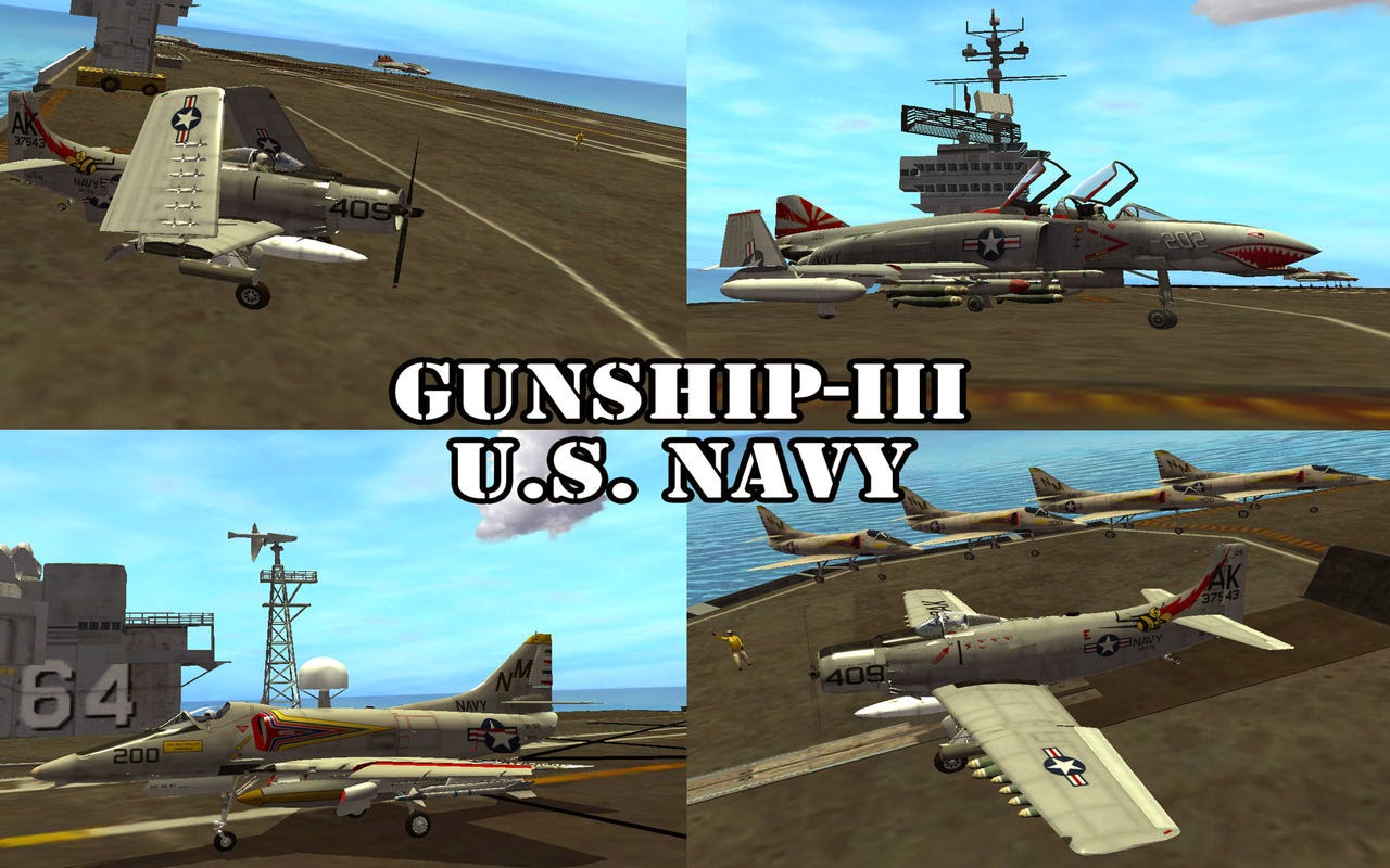Gunship III - U.S. NAVY Apk v3.5.3 + Data Full