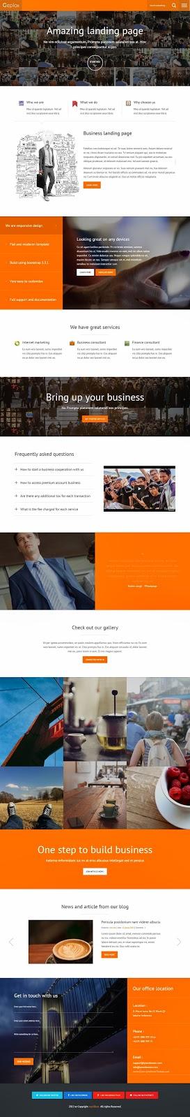 Premium Multipurpose Bootstrap Template 2015
