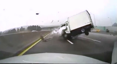 Extreme Truch -Car Crash on Highway