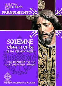 cartel via-crucis union de hermandades de jerez 2016