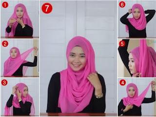 Inilah Tutorial Hijab Segi Empat Mudah Dan Simple