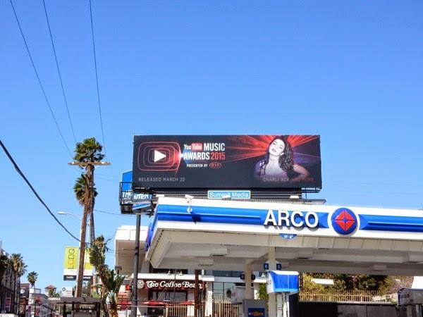 YouTube Music Awards Charli XCX billboard