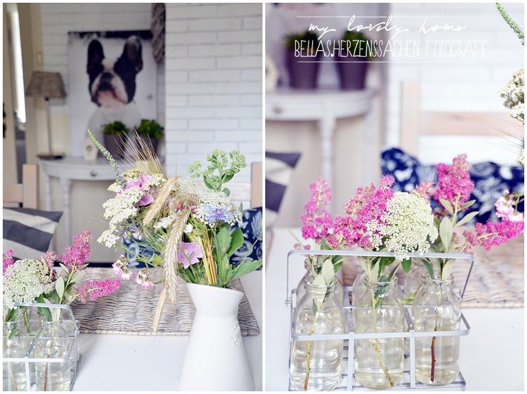 Esszimmer mit Blumen