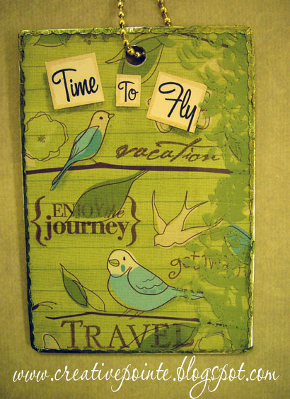 a new luggage tag for my carry on bag Here 39s how I made it. Angella s blog  Davanna 39s blog Children 39s wedding outside old