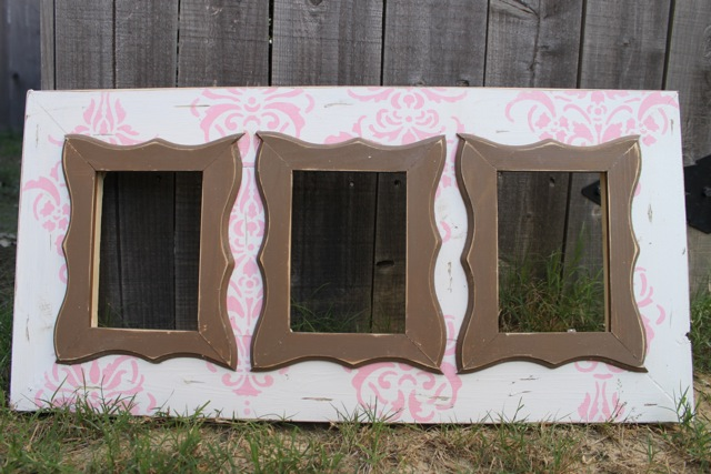 baby pink on white french country damask multi opening frame 110 5x7s