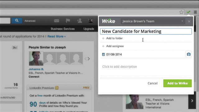 The Wrike Project Management Extension for Chrome