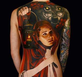 Tatuagem Chapeuzinho Vermelho Realista