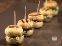 ciuperci cu brânză albastră și cușcuș