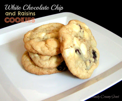 whitechocrais White Chocolate Chip and Raisins Cookies