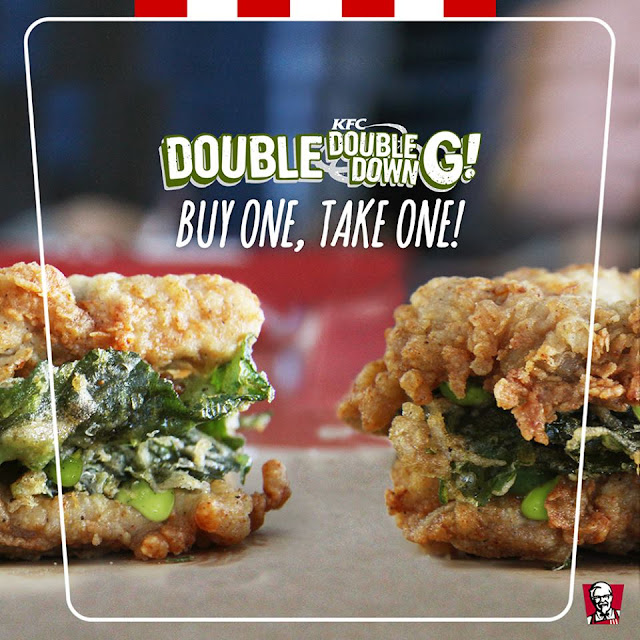 Get the new KFC Double Down sandwich - BUY ONE, TAKE ONE!
