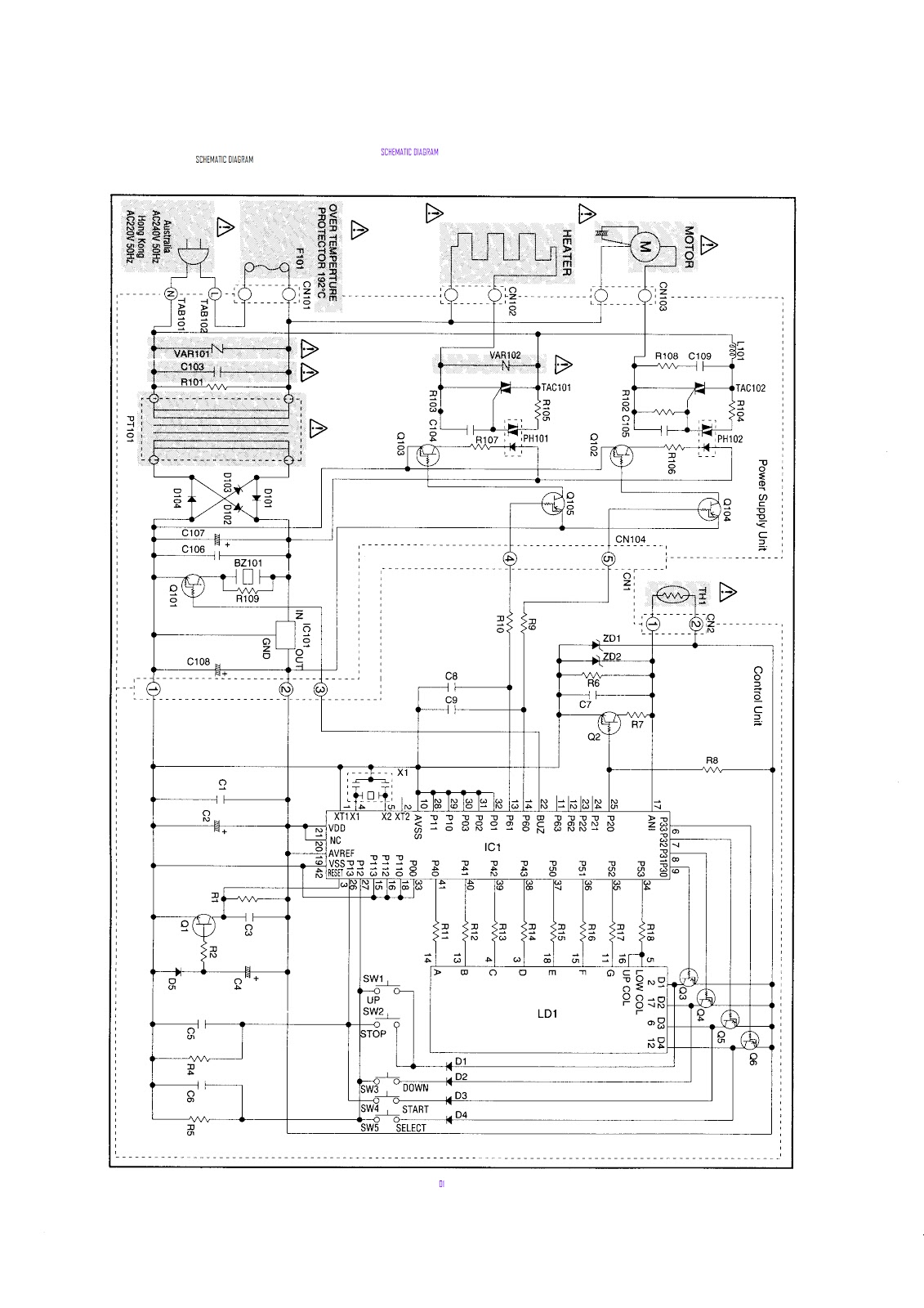 SANYO SBM201 BREADMAKER SERVICE HELP Electro help