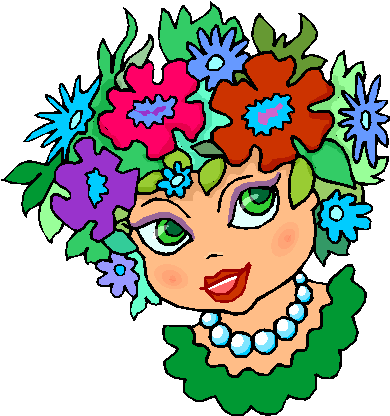 Flower in Her Hair Free Clipart
