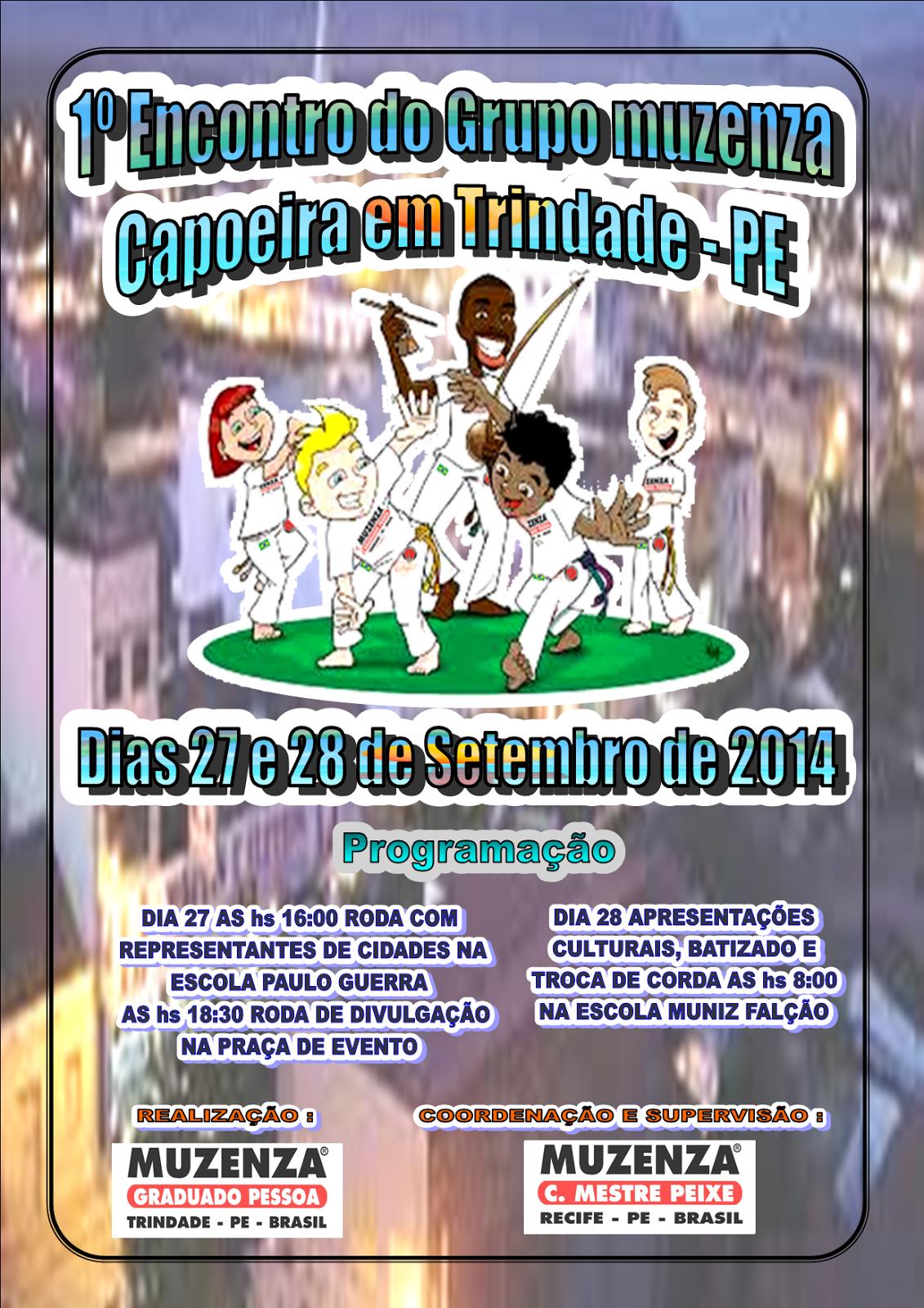 1º Encontro do Grupo Muzenza Capoeira em Trindade - dias 27 e 28 de setembro de 2014