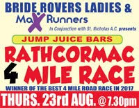 4 mile race nr Fermoy in NE Cork... Thurs 23rd Aug 2018