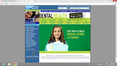 Region of Peel Oral Health Website - Screenshot by Promenade Court Dental
