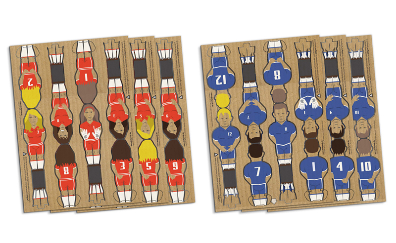 futbolín Kartoni