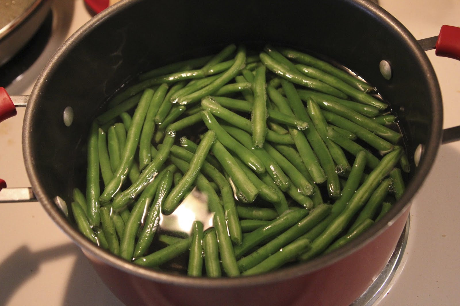 you think they're done, try one just to make sure. The green beans ...