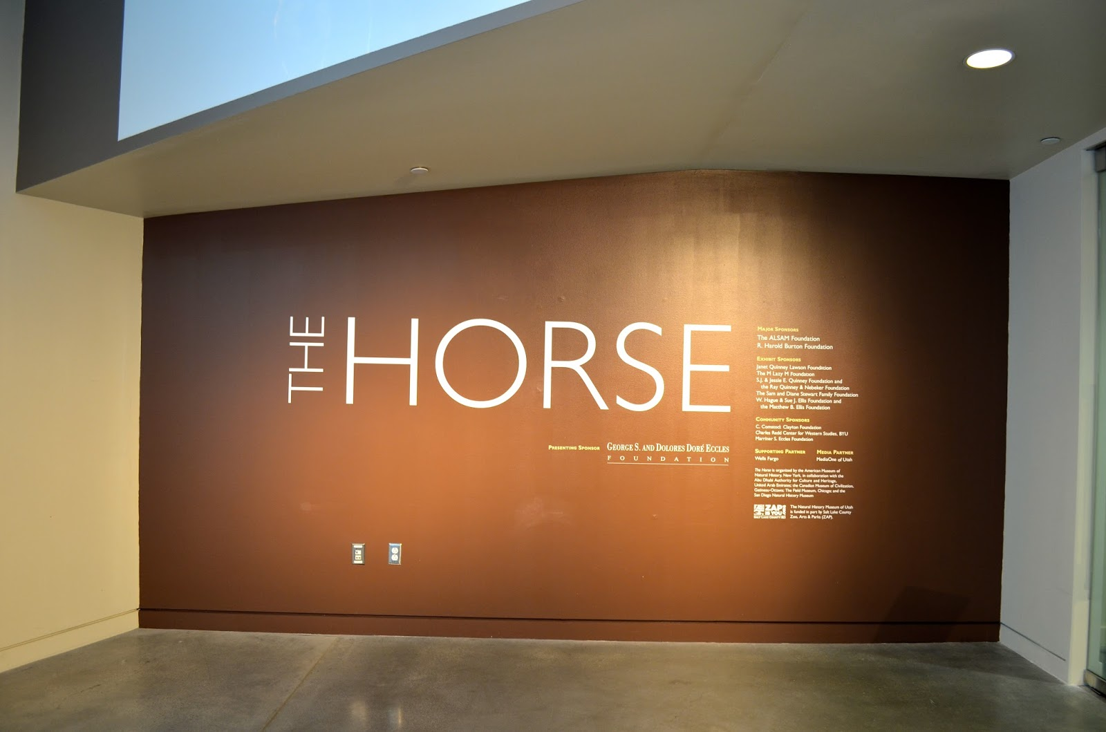 The Horse at the Natural History Museum of Utah