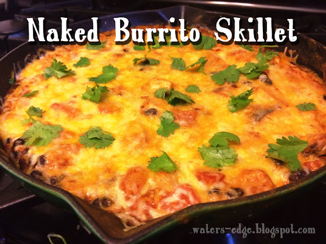 naked burrito enchilada skillet recipe with chicken and black beans